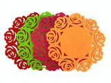 Cumpara ieftin Set 4 suporturi pentru pahare, material textil, 10 cm