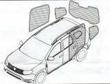Perdele interior Dacia Duster 2010 -> ( PRODUS DE FABRICA ) ManiaCars