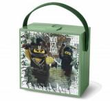 LEGO Ninjago Movie, Cutie pentru sandwich Sand Green cu maner