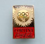 Insigna  Pin  Olimpica  Coca Cola  -  CORTINA  1956
