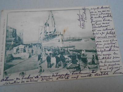 Carte postala, vaporul Regele Carol, 1901, circulat Ambulanta, foarte rara foto