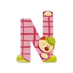 Litera N din lemn