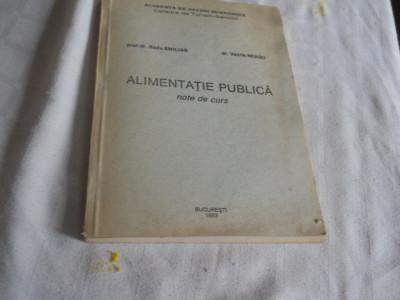 Alimentatie publica- note de curs Radu Emilian, Vasile Neagu, ASE Bucuresti 1993 foto