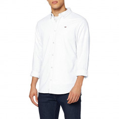 Camasa Tommy Jeans Oxford Dark White DM0DM06562 Slim Fit, Slim Fit, culoare Alb, marime 2XL EU