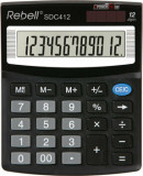 Calculator de birou Rebell SDC 412, 12 digits, negru