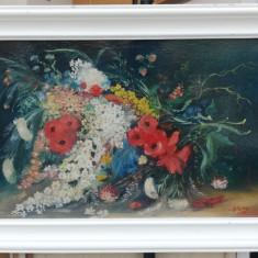 D Baba Tablou Natura statica cu flori de camp pictura in ulei pe panza 50x70cm