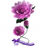 Aranjament handmade din hartie creponata Handmade by Diana Puiu AMHC 1 roz