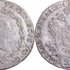 1824 - E - 20 kreuzer - Francis II - Imperiul Austriac
