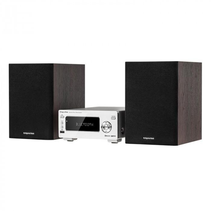 Mini Sistem audio Kruger & Matz, tuner FM, bluetooth, telecomanda, 2 x 15 W