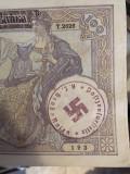 100 Dinari 1941 Iugoslavia Serbia bacnota ocupatie nazista svastica