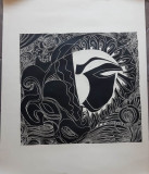 MARIANA POPA, ALEXANDRINA (1939-) - LITOGRAFIE, Nonfigurativ, Acuarela, Abstract