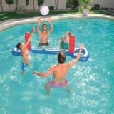 Cumpara ieftin Set volei pentru piscina, fileu si minge gonflabile, 244x64 cm, material vinil, Bestway