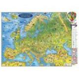 Harta Europei pentru copii, proiectie 3D, 450x330mm (3DCHECP45)