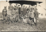 Fotografie ofiteri romani aviatie perioada regalitatii