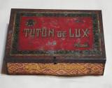 Regia Monopolurilor Statului TUTUN de LUX Cutie veche de colectie tabla Litograf
