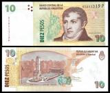 = ARGENTINA - 10 PESOS – 2016 – UNC  =