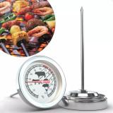 Termometru alimentar cu tija, accesoriu gastronomie bbq, 120 grade celsius