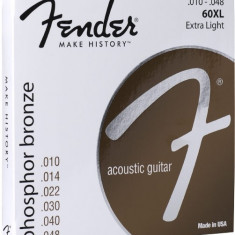Corzi chitara acustica Fender 60 XL Phosphor Bronze 10-48