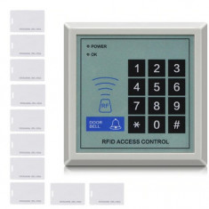 Cititor de proximitate / Panou acces control RFID + 10 Carduri 500 user