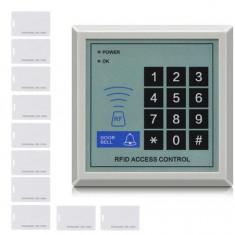 Cititor de proximitate / Panou acces control RFID + 10 Carduri 500 user