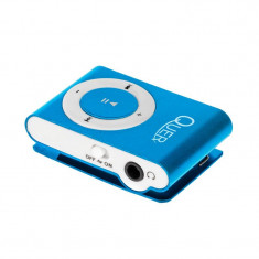 Mini MP3 Player Quer, maxim 32 Gb, albastru