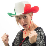 Pălărie de Cowboy Steagul Italiei
