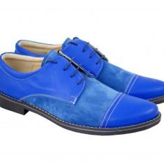 Pantofi barbati casual - eleganti din piele naturala intoarsa - CARLO BLUE