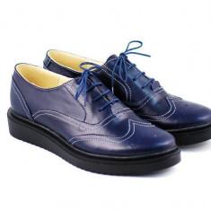 Pantofi dama casual-eleganti din piele naturala, talpa ortopedica - P29ORTOBLM