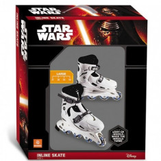 Role copii 4 roti in linie Star Wars reglabile marimi 37-40 cu lumina roti