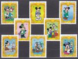 DB Disney St. Vincent Mickey personaje 8 v MNH, Nestampilat