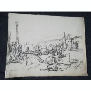 Grafică realizată de artistul consacrat Eugen Ispir