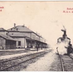 # Z.2313- Romania, Brasso, Brasov carte post. necirculata: Gara interior, tren