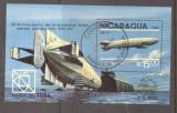 Nicaragua 1984 Zeppelin perf. sheet Mi.B158 used TA.080