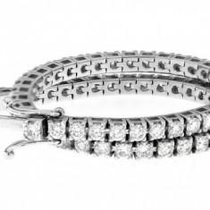 Bratara Tennis din aur alb 18K cu 67 diamante, 3.18 ct., lungime 18 cm