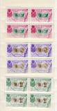 Romania 1954    EXIL    serie    MNH   blocuri  di  4, Oameni, Nestampilat
