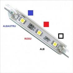 Modul 3 SMD 5050 12V CU 3 culori ALB-ROSU-ALBASTRU Mall