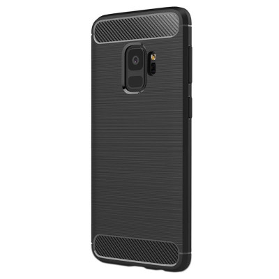 Husa SAMSUNG Galaxy S9 - Carbon (Negru) Forcell foto