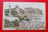 Bucuresti litho Palatul Regal, Circulata, Printata