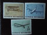 Serie timbre aviatie avioane Austria nestampilate
