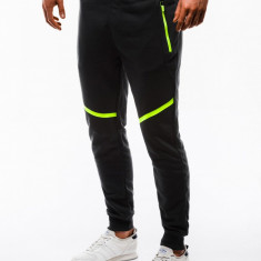 Pantaloni barbati de trening negru slim fit sport street model nou P742