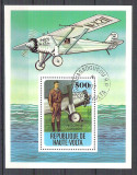 Haute Volta 1978 Aviation, perf. sheet, used R.072
