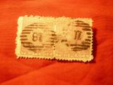 2 Timbre Noua Zeelanda 1874 pereche , 2x2p rosu stampilat