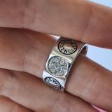 Inel  LOUIS VUITTON cu Pietre si Placat cu Aur - Curoare Argintiu