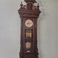 Pendula, ceas de perete cu 3 greutati , GUSTAV BECKER 1880,cu garantie