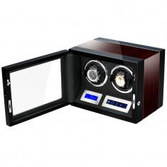 Cutie pentru intors ceasuri automatice iUni, Luxury Watch Winder 2 Mahon