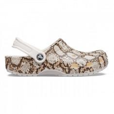 Saboți Adulti Unisex casual Crocs Classic Snake Print Clog