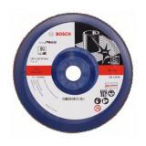 Disc evantai pentru slefuire Bosch, 180 x 22.23 mm, granulatie 60