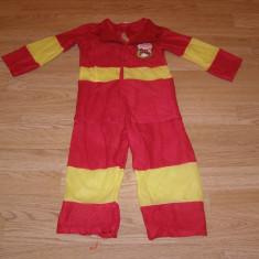 costum carnaval serbare pompier pentru copii de 2-3 ani