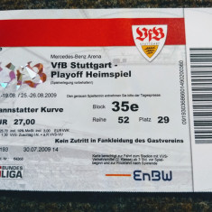 Bilet meci fotbal VFB STUTTGART - ACS POLI TIMISOARA (Champions League 2009)