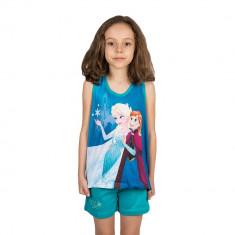 Compleu fete Frozen Elsa si Anna verde